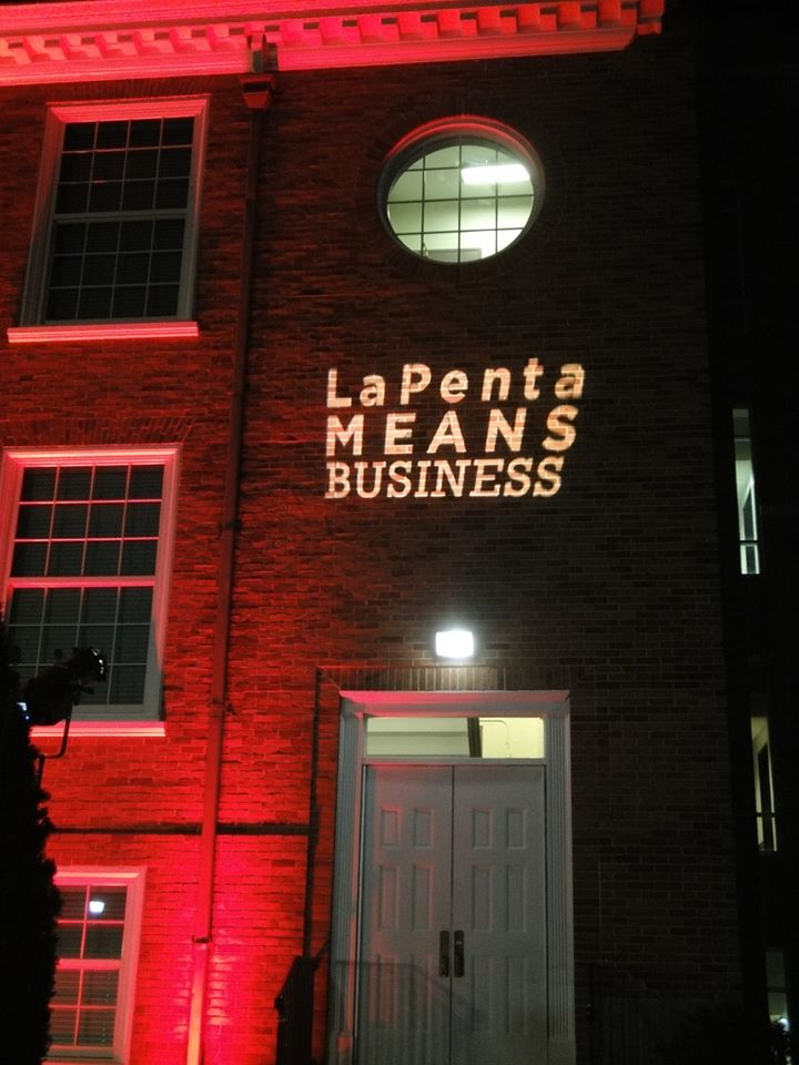 Business Logo Projection