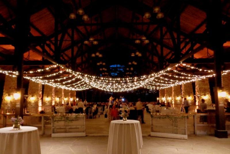 Bistro String Lighting In Pavilion Mohonk Mountain House